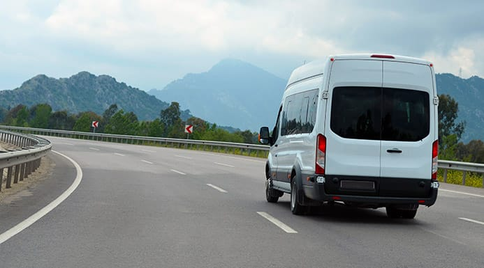A Van With A GPS Tracker Installed Can Be Monitored From Your Mobile Device