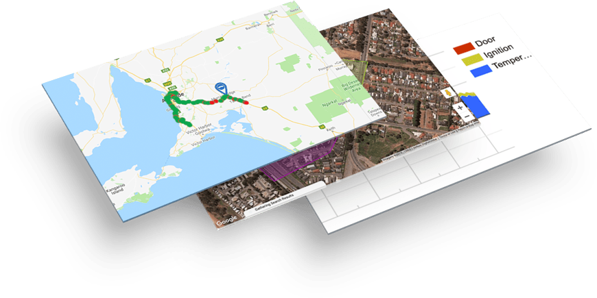 Cloud Based Vehicle Tracking Software Screens, Including Maps, Vehicle Reports, Fleet Alerts & Travel History